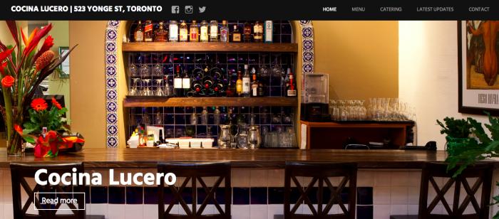 Cocina Lucero   523 Yonge St  Toronto     416 923 4545